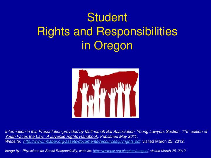 Student rights and responsibilities in oregon