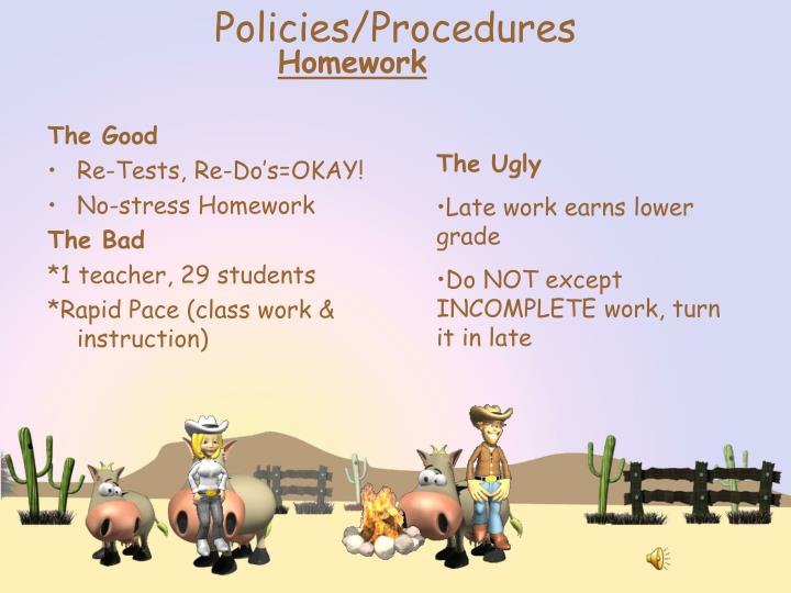 Policies/Procedures