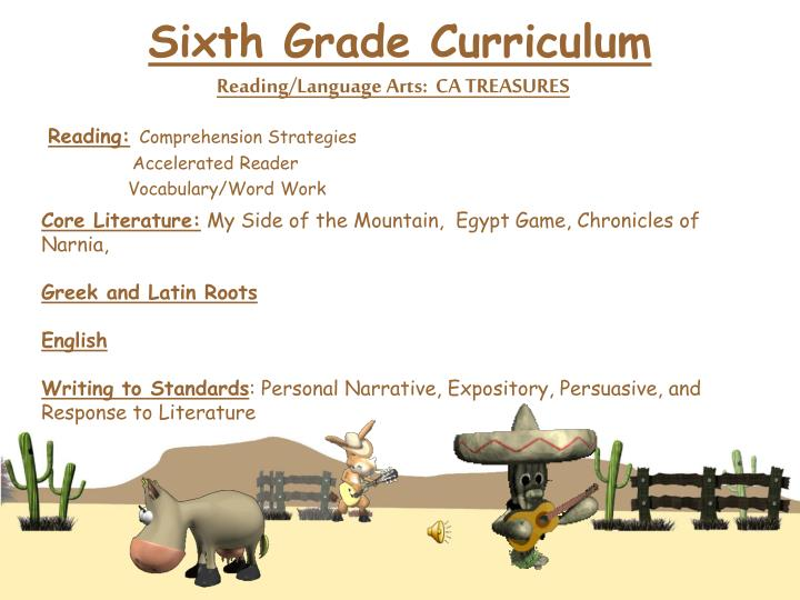 Sixth Grade Curriculum