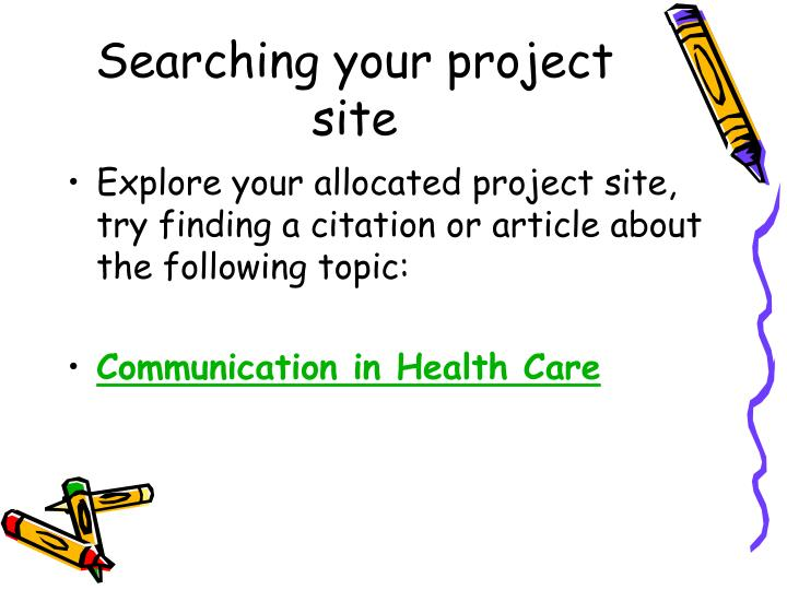 Searching your project site