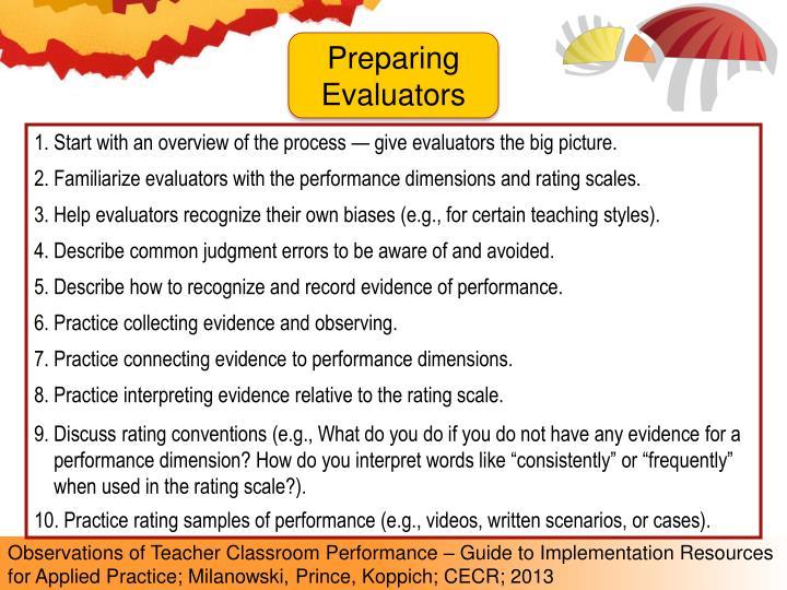 Preparing Evaluators