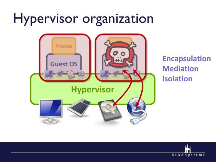 Hypervisor organization