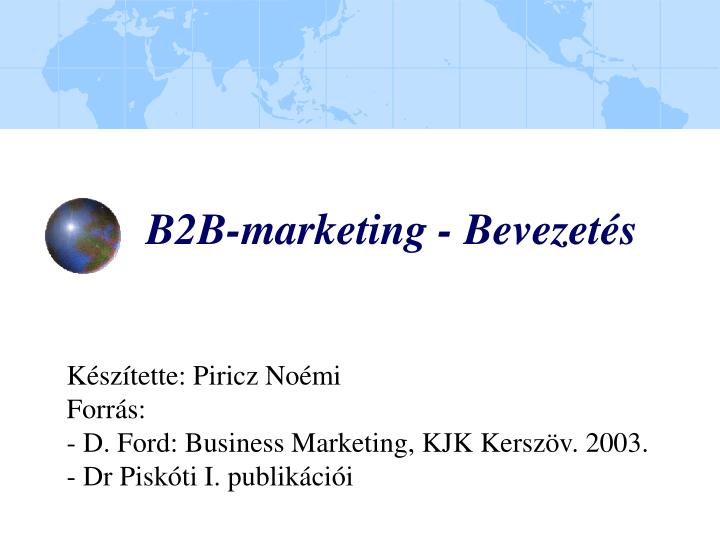 B2b marketing bevezet s
