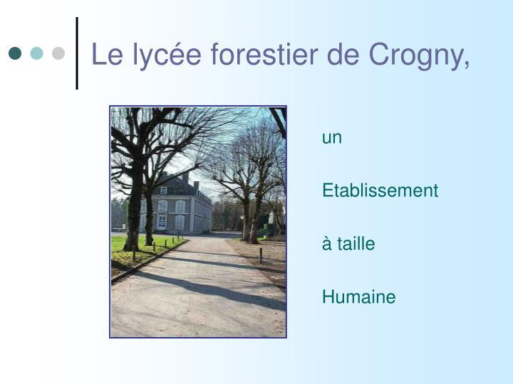 Le lycée forestier de Crogny,