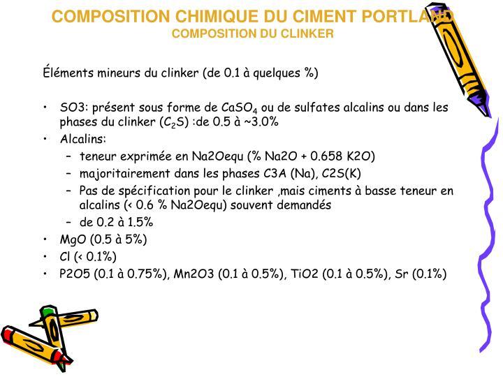 Ppt cimenterie nationale production chimie et types du ciment powerpoint pr - Composition du ciment ...