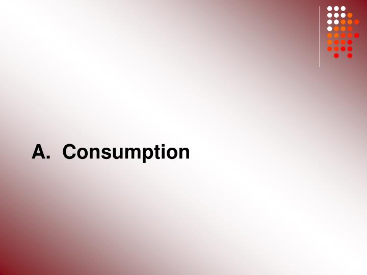 A.  Consumption
