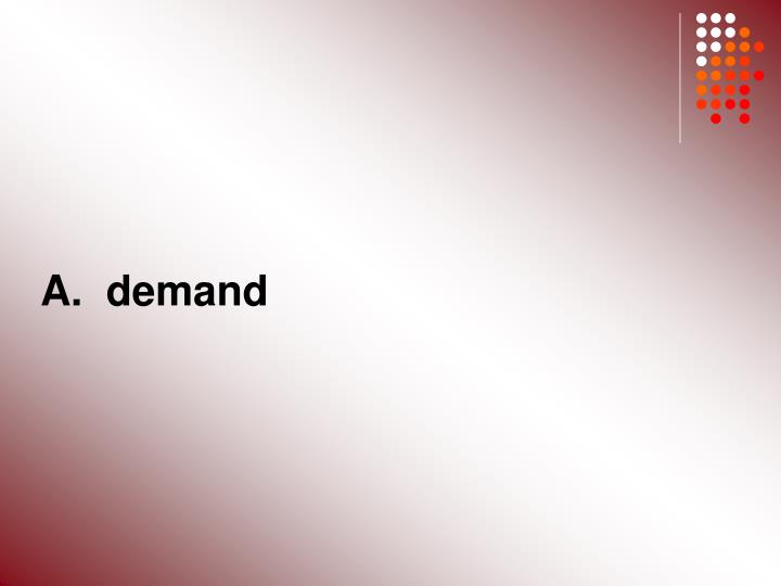 A.  demand