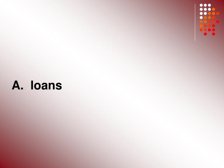 A.  loans