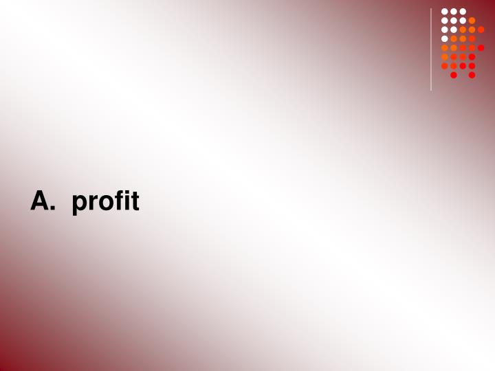 A.  profit