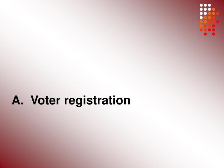 A.  Voter registration