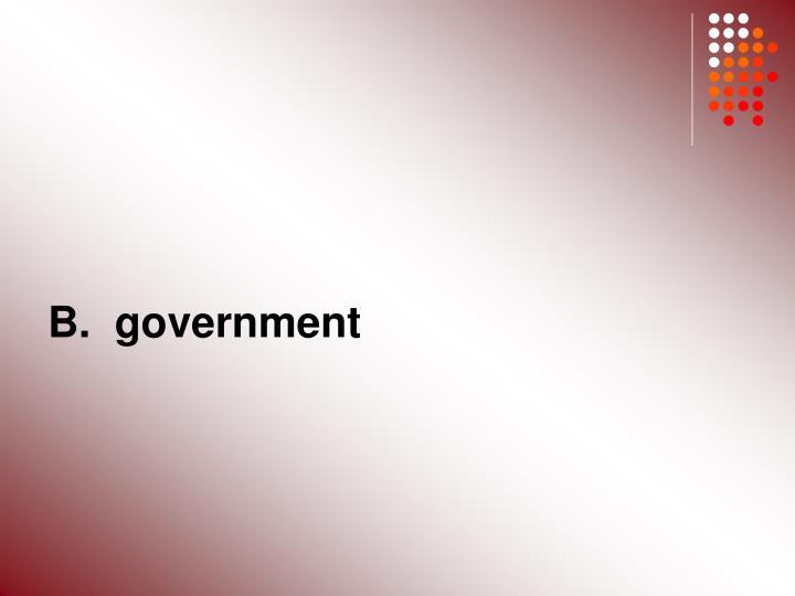 B.  government
