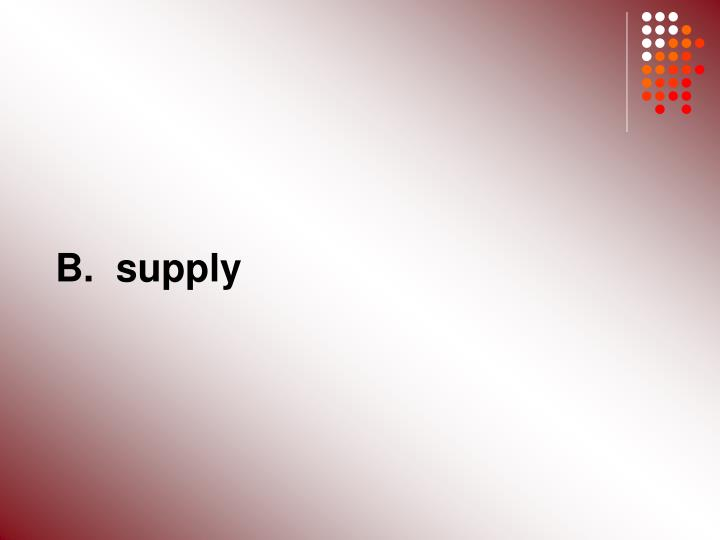 B.  supply
