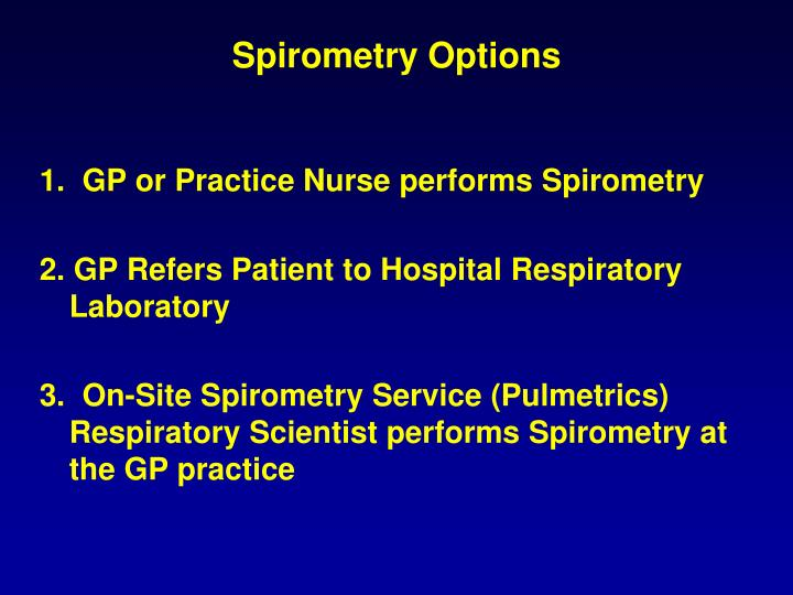 Spirometry Options