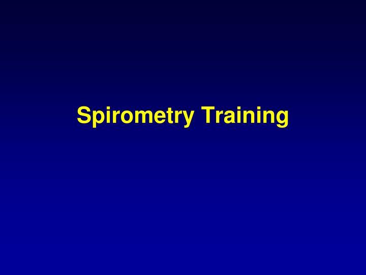 Spirometry Training