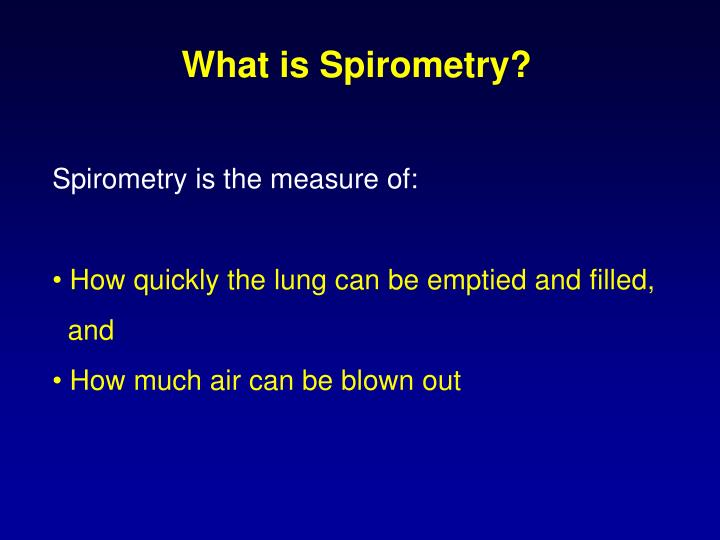What is Spirometry?