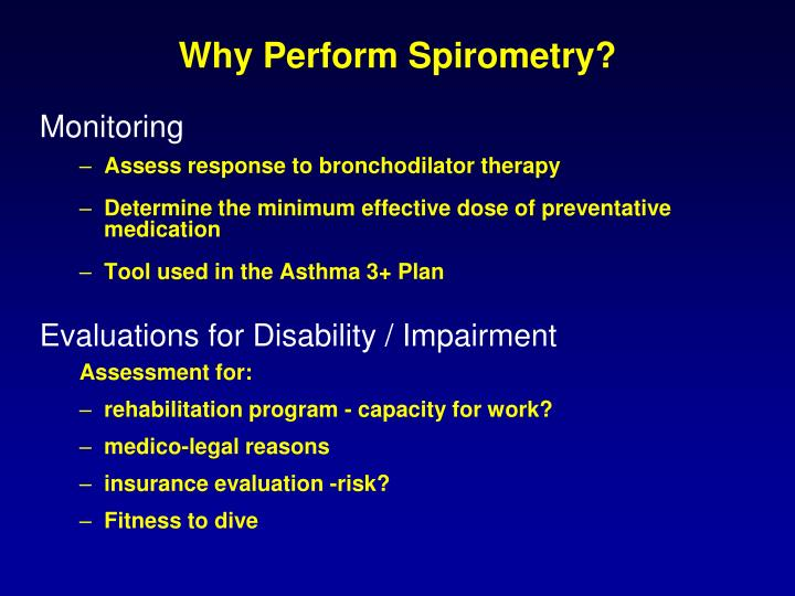 Why Perform Spirometry?