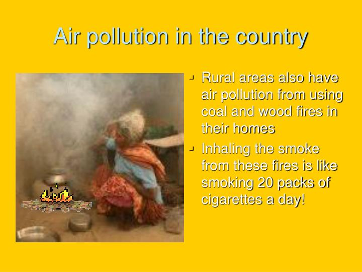 Air pollution in the country