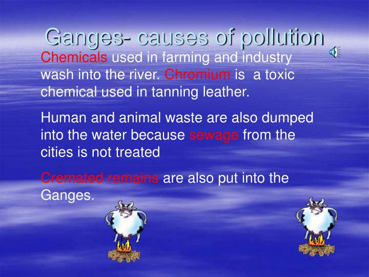Ganges- causes of pollution
