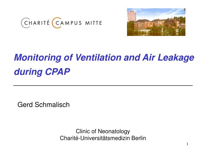 Monitoring of Ventilation and Air Leakage during CPAP