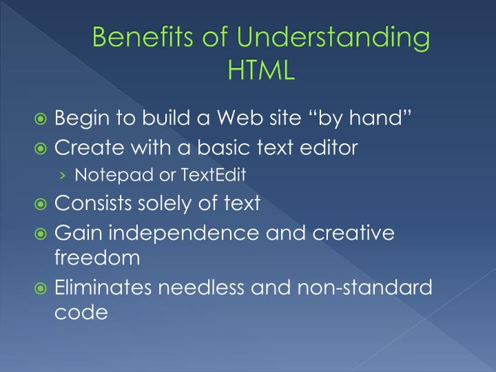Benefits of Understanding HTML