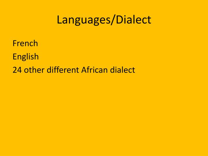 Languages/Dialect