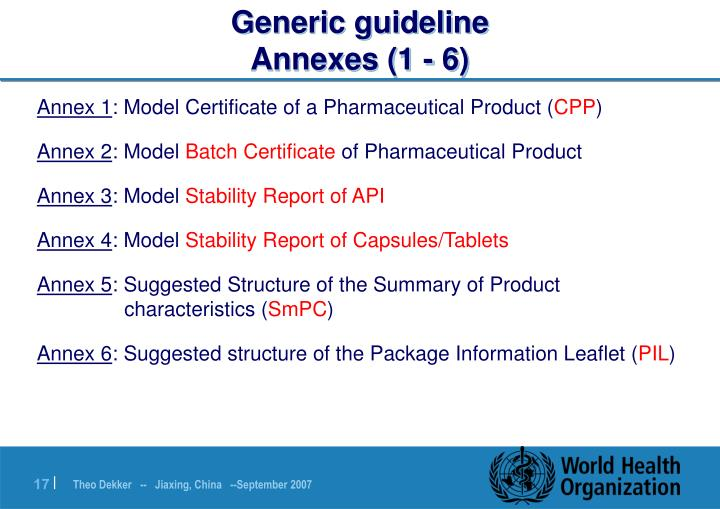 Generic guideline