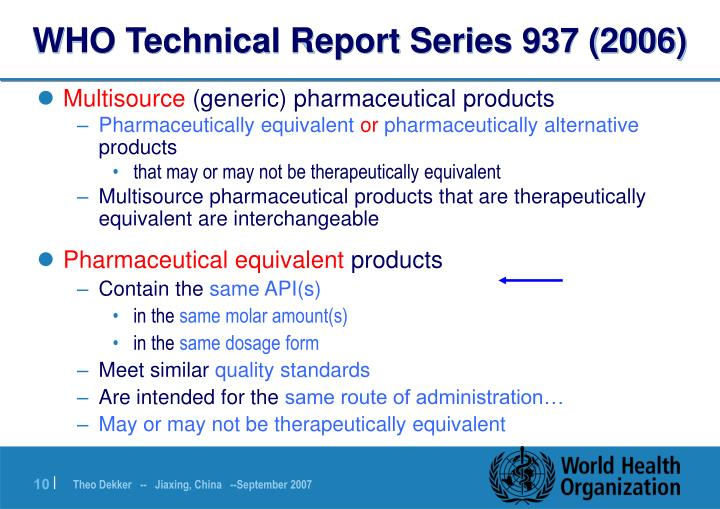 WHO Technical Report Series 937 (2006)