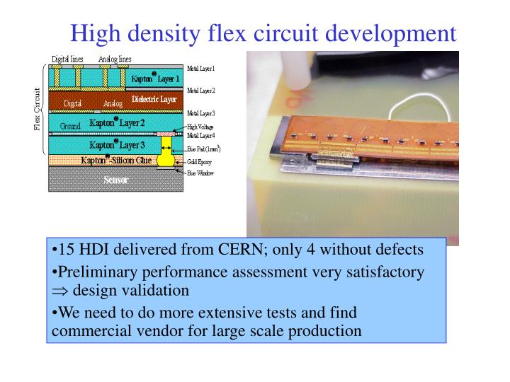 High density flex circuit development