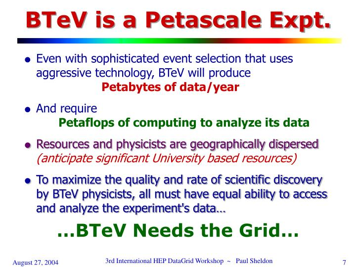 BTeV is a Petascale Expt.