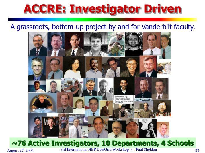 ACCRE: Investigator Driven