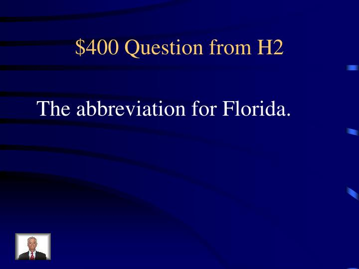 $400 Question from H2