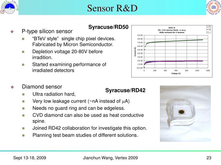 Sensor R&D