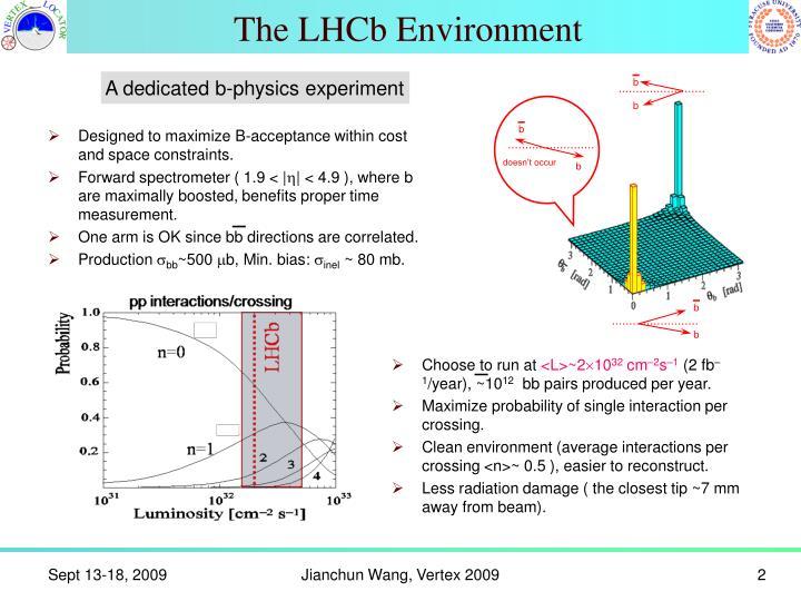 The LHCb Environment