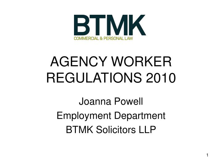 Agency worker regulations 2010