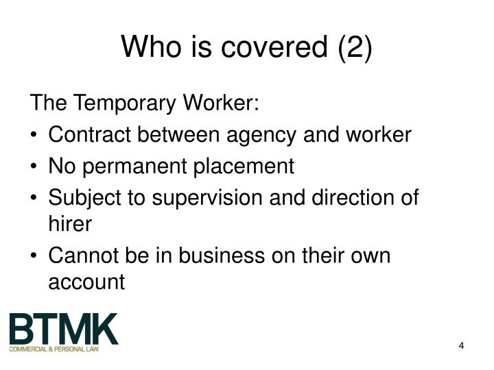 Who is covered (2)