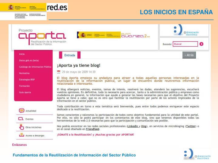 LOS INICIOS EN ESPAÑA