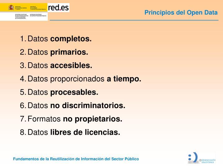 Principios del Open