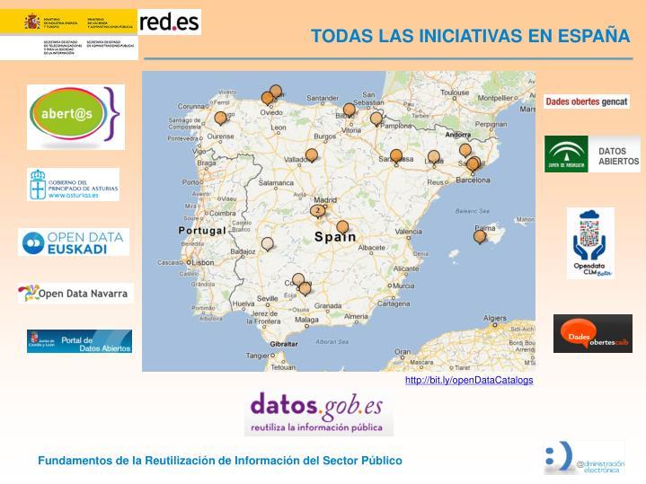 TODAS LAS INICIATIVAS EN ESPAÑA