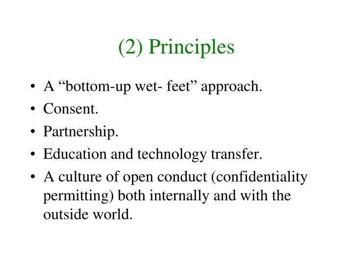 (2) Principles