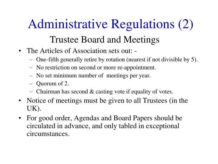 Administrative Regulations (2)