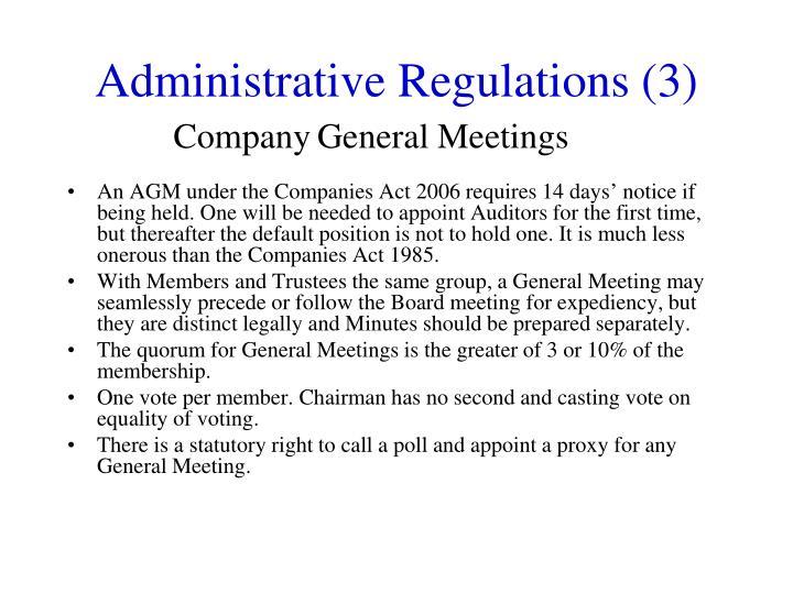 Administrative Regulations (3)