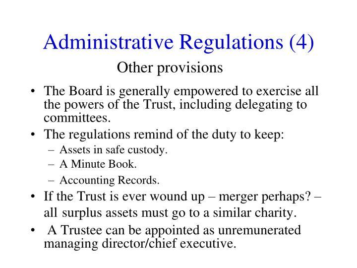 Administrative Regulations (4)
