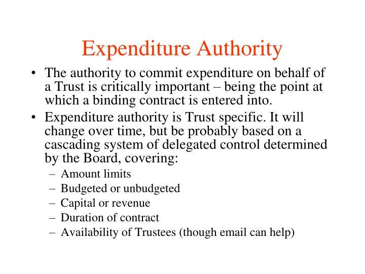 Expenditure Authority