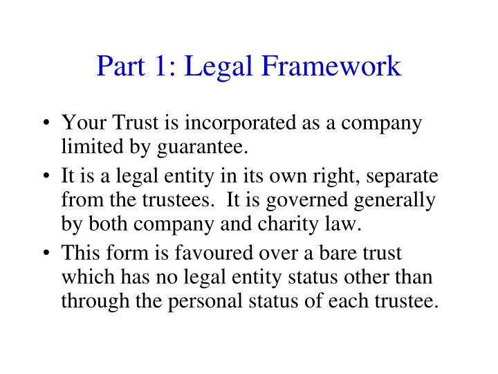Part 1: Legal Framework