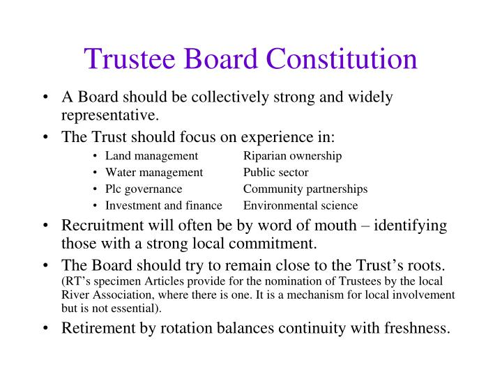 Trustee Board Constitution