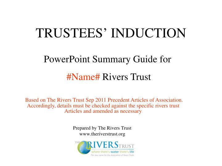Trustees induction