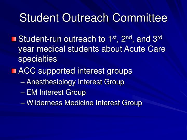 Student Outreach Committee