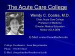 the acute care college