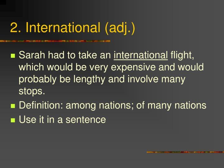 2. International (adj.)