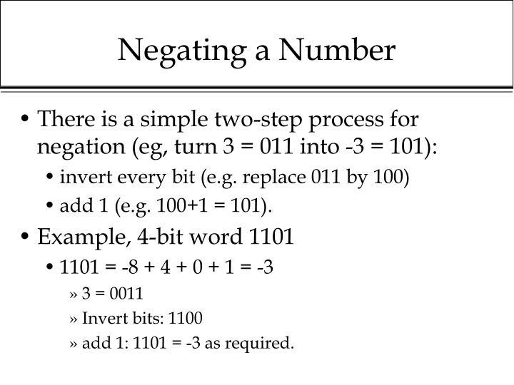 Negating a Number